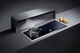 kitchen design stainless steel downdraft range hood cooktop multi