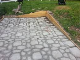 Making A Paver Patio by Form In Place Concrete Paver Patio 6 Steps