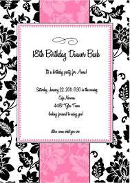 18th birthday party invitation vertabox com
