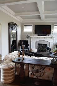 restoration hardware inspired home design transitional living