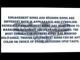 difference between engagement ring and wedding band what is the difference between engagement rings and wedding rings