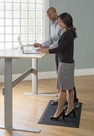com imprint uluspro commercial grade standing desk anti fatigue mat 24 in x 36 in x 3 4 in black kitchen dining