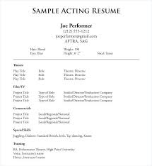 resume template word theater resume template acting portrait include resize 300