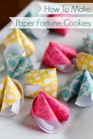 Where Can You Buy Fortune Cookies How To Make Paper Fortune Cookies These Cute Paper Fortune