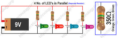 how to calculate the value of resistor for led led u0027s circuits