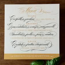 Wedding Invitations With Menu Cards Federflug Calligraphy Wedding Stationery Menu Cards