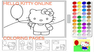 kitty coloring pages game kids kitty coloring