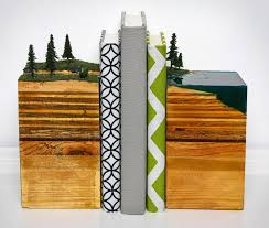 Unusual Bookends Layered Earth Bookends