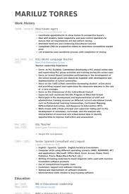 Esl Teacher Resume Example by Real Estate Agent Resume Samples Visualcv Resume Samples Database