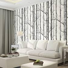 Schlafzimmer Mit Holz Tapete Schwarz Weiß Birke Tapete Für Schlafzimmer Moderne Design