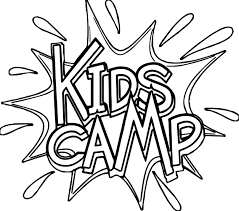summer kids camp text coloring page wecoloringpage
