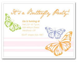 Butterfly Invitations Printable Butterfly Party Invitation Template