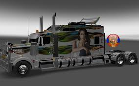 kenworth w900 model truck kenworth w900 long metallic long style 10 16 skins 1 26 4 3s