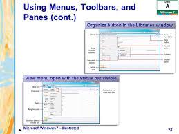 Windows 7 Top Bar Microsoft Windows 7 Illustrated Ppt Download