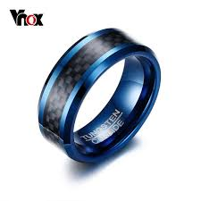 aliexpress buy vnox 2016 new wedding rings for women aliexpress buy vnox blue tungsten rings for men wedding