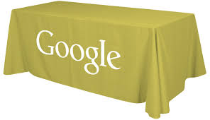 Logo Table Cloth by 8ft Table Throw With 1 Color Logo Imprinted Table Covers