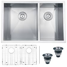 Stainless Steel Grid For Kitchen Sink by Ruvati Stainless Steel Double Bowl Kitchen Sink With Rinse Grids