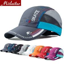 running hat with lights 2015 fashion men outdoor hiking breathable mesh running cap light