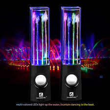light up portable speaker soundsoul water dancing speakers light show water fountain speakers