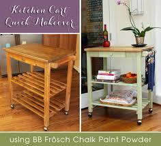 painted kitchen furniture kitchen cart makeover with bb frosch chalk powder hometalk
