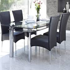 All Glass Dining Room Table Contemporary Glass Dining Table Design Come With 2 Tier To Storage