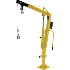 vestil hydraulic pickup truck jib crane with hand winch u2014 extended