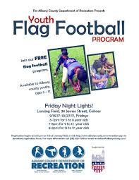 Flag Football Set For Adults Albany County Flag Football Program City Of Cohoes Ny News