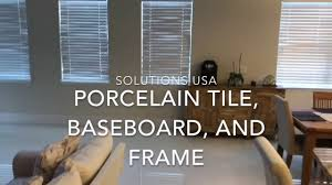 porcelain tile baseboard and frame youtube