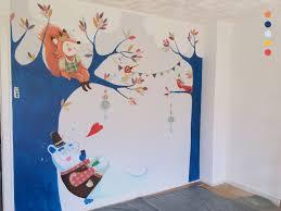 fresque chambre bébé fresque murale chambre d enfant un ours fait une sieste à l