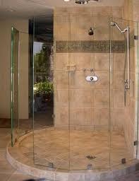 Bathroom Shower Door Ideas Bathroom California Frameless Shower Doors Matched With Burlywood