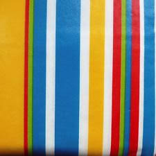 70 striped vinyl flannel back tablecloth green white