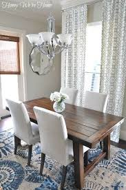 honey colored dining table a bright and beautiful breakfast room with our benchwright table
