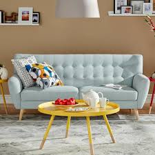 Teal Tufted Sofa by Home Decorators Collection Gordon Natural Linen Sofa 0849400400