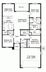 house plans one level house plan house plans one level plan 3 bedrooms 2 car garage 1