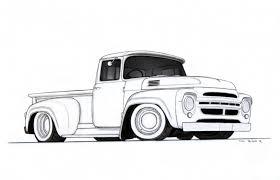 pencil drawings of trucks drawing art library