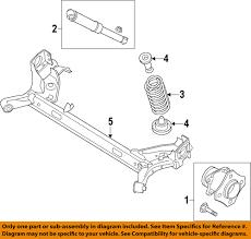 nissan sentra oem parts nissan oem 2013 sentra rear shock absorber or strut e62103sh0c ebay