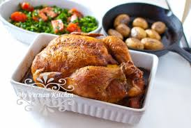 Roast Whole Chicken Perfectly Roasted Chicken With Advieh My Persian Kitchen
