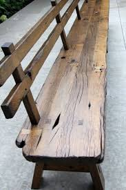 best 25 bench with back ideas on pinterest wood bench with back custom made live edge barnwood bench with back rest 15 long