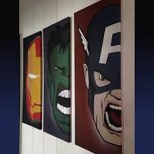 Captain America Bedroom by Need Some Cool Wall Decor Get Iron Man Hulk U0026 Captain America