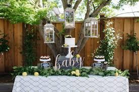 Rustic Backyard Party Ideas Kara U0027s Party Ideas Rustic Lemon Themed Baby Shower Kara U0027s Party
