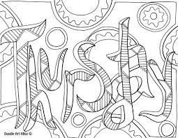 thursday coloring page kleurplaten teksten pinterest