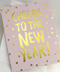 boxed cards new year cheers confetti gold foil designer boxed cards