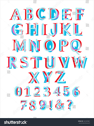 kids style colorful latin alphabet layered stock vector 437366581