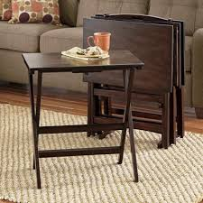 Tv Tray Table 5 Piece Tv Tray Table Set From Seventh Avenue Dw757090