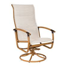 High Back Sling Patio Chairs by Wicker Rockers Outdoor And Patio Hickory Park Furniture Galleries