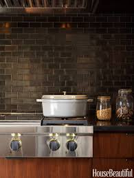 black kitchen backsplash porcelain tiles with stove and black
