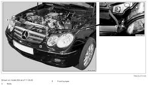 how do i remove a 2006 clk 350 front bumper
