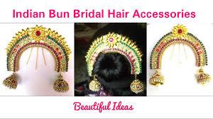 hair accessories how to make indian bun bridal hair accessories at