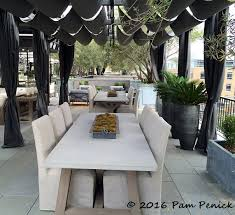 Awning Furniture Rh Austin Rooftop Garden Showcases Contemporary Outdoor Furniture