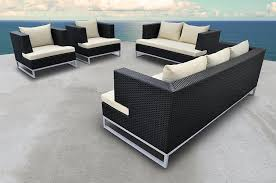 Black Wicker Furniture Amazon Com Solis Braccio Outdoor Deep Seated 4 Piece Black
